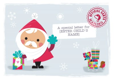 Greeting Cards - A Special Letter For Official Santa Personalised Merry Christmas Card For Child - Image 1