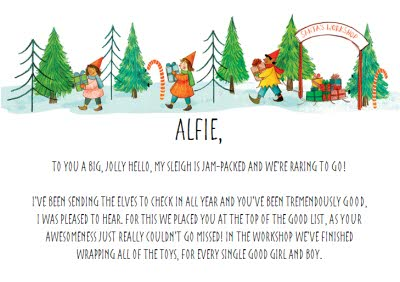 Greeting Cards - Personalised Letter From Santa Checked Twice Christmas Card - Image 2