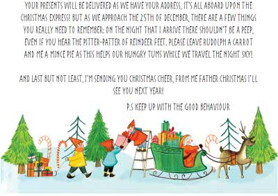 Greeting Cards - Personalised Letter From Santa Checked Twice Christmas Card - Image 3